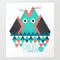 power Art Prints featuring Power by Studio Axel Pfaender