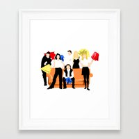 friends tv Framed Art Prints featuring Friends  by Take Me To The Metro