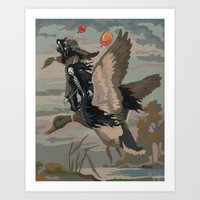 thegnarledbranch Art Prints featuring Leaving the Party by TheGnarledBranch