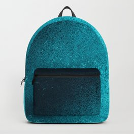 Modern abstract navy blue teal gradient Backpack