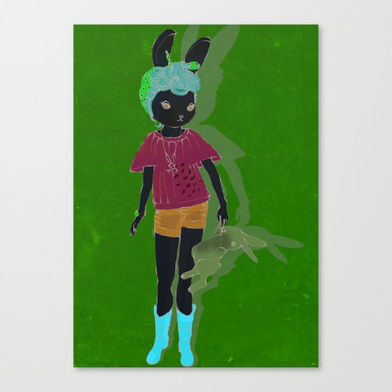 me-the bunny Canvas Print