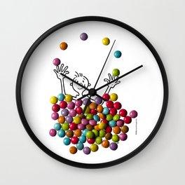 DIDI and chocolate candies Wall Clock