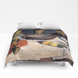 The Meal by Paul Gauguin Comforters