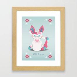Evolution Bobbles - Sylveon Framed Art Print