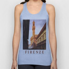 Vintage Florence Italy Travel Unisex Tank Top