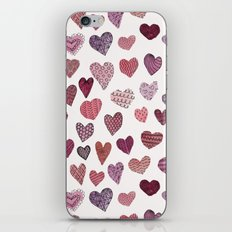 Artsy Hearts iPhone & iPod Skin