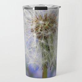 Dandelion in blue and purple Flowers Travel Mug