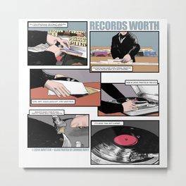 Records Worth Metal Print