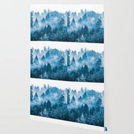 Blue Foggy Forest Adventure #46 Wallpaper