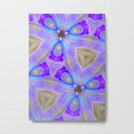Ultra Violet Sacred Geometry Metal Print