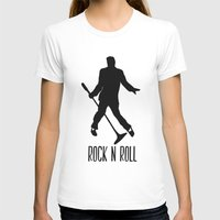 rock n roll T-shirts featuring Rock N Roll by Eleanor Rose