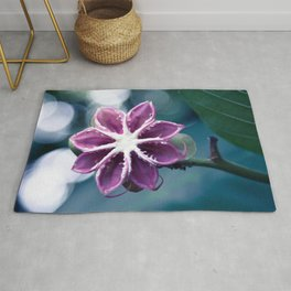 Single Little Purple Flower Rug