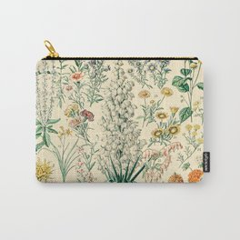 Floral Diagram // Fleurs IV by Adolphe Millot XL 19th Century French Science Textbook Artwork Carry-All Pouch