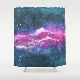 Space Mountain Shower Curtain