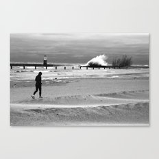 Waves on Lake Michigan in Chicago Canvas Print