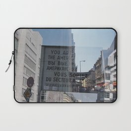 You are now leaving the American sector Laptop Sleeve