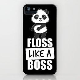 Panda Floss Like a Boss iPhone Case