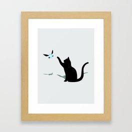 Cat and Navi Framed Art Print