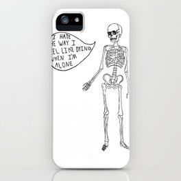 Joyce Manor Skeleton iPhone Case