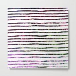 Dark Abalone Marble Stripes Metal Print
