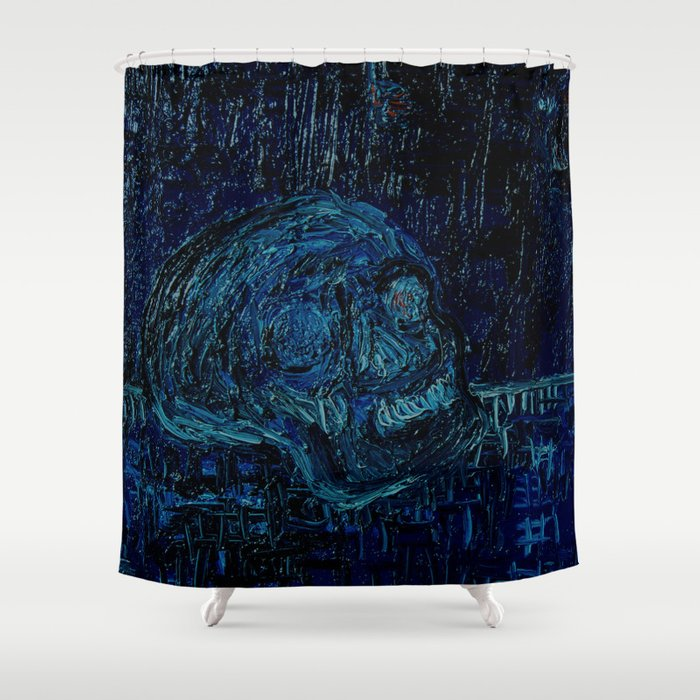 The Skull and the Key Shower Curtain