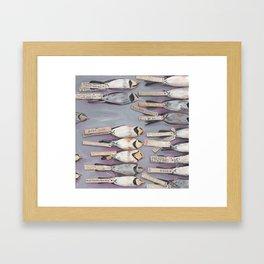 Horned Larks Specimen Framed Art Print