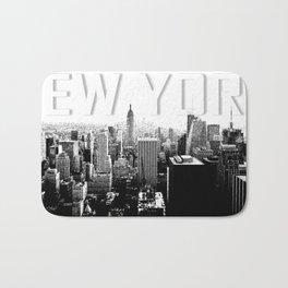 New York Black & White Sketch Bath Mat