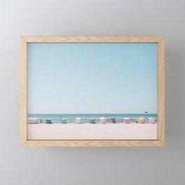 Beach Huts Framed Mini Art Print