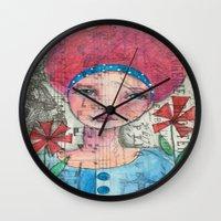 zelda Wall Clocks featuring Zelda by Judy Skowron