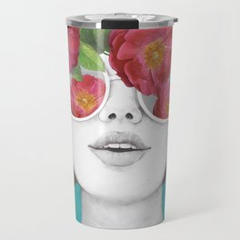 The optimist // rose tinted glasses Travel Mug