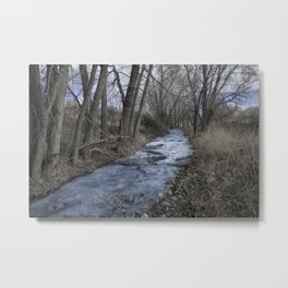 Steel Blue Winter Metal Print