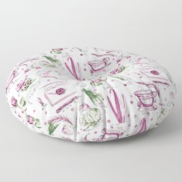 Love Note watercolor pattern Floor Pillow