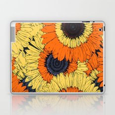 Abstracted Orange Yellow Deco Sunflowers Laptop & iPad Skin