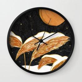 Clear Night brush pen illustration by Amanda Laurel Atkins Wall Clock