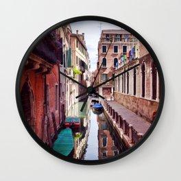 Get Lost In Venice Wall Clock