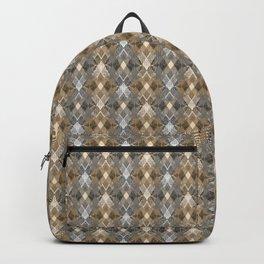 Gray beige geometry. Backpack