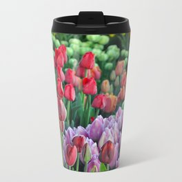 Colorful bunches of spring tulips Metal Travel Mug
