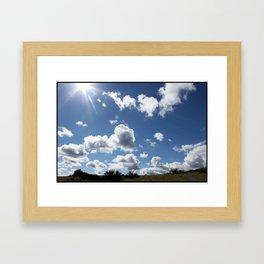 ponoche hills Framed Art Print