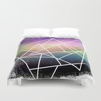 night sky Duvet Covers featuring night sky by Cat Milchard
