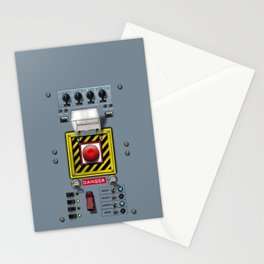 Launch console for nuclear missile Stationery Cards