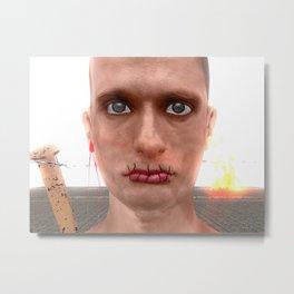 Je suis un artiste russe Metal Print