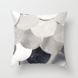 silver shed Throw Pillow