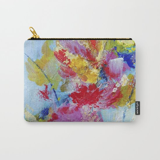 Abstract floral painting 5 Carry-All Pouch