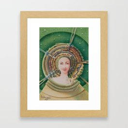 """Portrait with snake pet"" Framed Art Print"