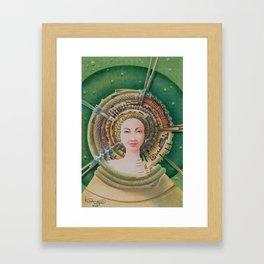 """Portrait with snake pet"" Framed Art Print"