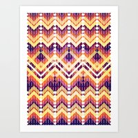Triangles 3 Art Print