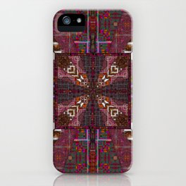 285 brown maroon  white iPhone Case