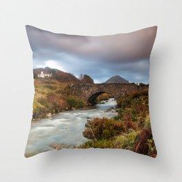 Sligachan Bunk House Throw Pillow