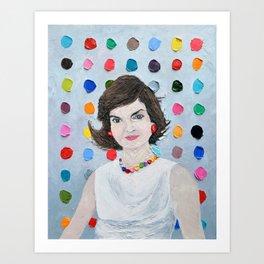 Polka Daub Jackie O Art Print