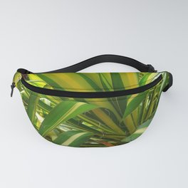 TROPICAL GREEN VARIEGATED AGAVE'S ART Fanny Pack